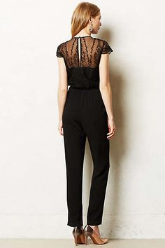 Anthropologie - Georgette Embroidered Jumpsuit