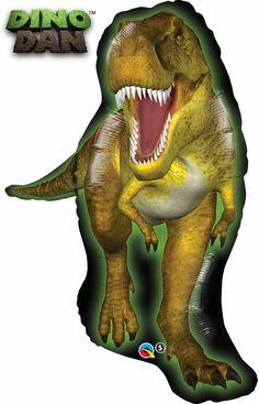 Tyrannosaurus rex Jurassic World birthday party balloon. T-rex super shape creates a perfect birthday party decoration for dinosaur lovers. Dinosaur Party Supplies, Dinosaur Birthday Party, Birthday Balloons, Birthday Parties, Balloon Party, 5th Birthday, Birthday Ideas, Kid Parties, Jurassic Park Party