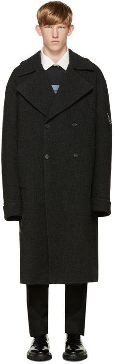 Yang Li - Grey Wool DBF Big Coat