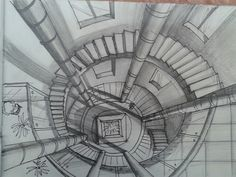 Nata Drawing Pencil Sketches Architecture, Architecture Exam, 1 Point Perspective Drawing, Perspective Artists, Interior Design Sketches, Still Life Drawing, Geometric Pattern Design, Drawing Techniques, Concept Art