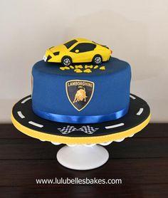 may birthday party Lamborghini Cake, Ferrari Cake, Huracan Lamborghini, Bugatti, Lamborghini Diablo, Birthday Cakes For Men, Car Cakes For Boys, Car Themed Parties, Birthday Parties