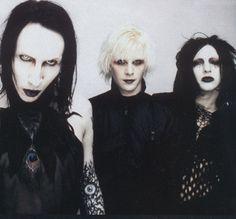 Marilyn Manson John 5 and Twiggy Ramirez Nu Metal, Heavy Metal, Brian Warner, Modern Goth, Goth Subculture, John 5, Into The Fire, Cute Young Girl, Emo Scene
