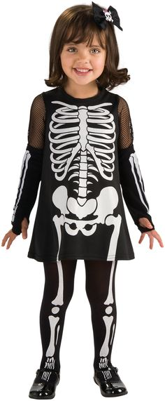 Skeleton Girl Toddler Costume from Buycostumes.com
