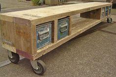Tv meubel, Industrieel Sloop Steigerhout Vintage Bakken