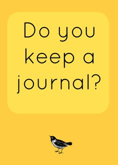 'Do you keep a journal...?' (via Life, the Universe and Lani)