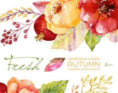 Elementos de otoño frescos imágenes prediseñadas por OctopusArtis