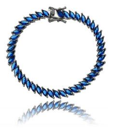 902b0df921d pulseira riviera rodio negro de navetes azuis semijoia Semi Joias Online