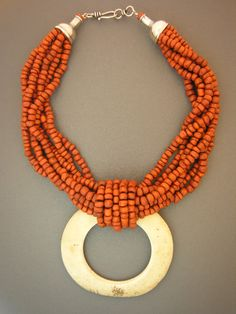 Unique ethnic jewelry and tribal jewelry. Handcrafted necklaces, bracelets, and rings using antique and ancient beads and artifacts by jewelry designer Anna Holland. Metal Clay Jewelry, Ceramic Jewelry, Beaded Jewelry Designs, Tribal Jewelry, Handmade Necklaces, Handmade Jewelry, African Jewelry, Diy Necklace, Jewelry Crafts