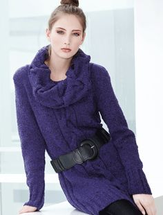 My next knitting project! Knit Fashion, Girl Fashion, Knitting Magazine, Knit Jacket, Knitting Designs, Knit Dress, Free Pattern, Knitwear, Knitting Patterns