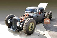 Strange or unusual rat rods Custom Rat Rods, Custom Cars, Vintage Trucks, Old Trucks, 6x6 Truck, Hot Rod Pickup, Wheels On The Bus, Kustom Kulture, Transportation Design