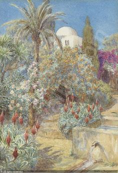 A Mediterranean garden sold by Christie's, London, on Thursday, October 16, 2003