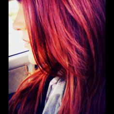 Deep red hair for fall
