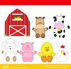 Best healthy snacks for kids on the good night Farm Animal Party, Barnyard Party, Farm Party, Farm Birthday, Animal Birthday, Barn Animals, Farm Activities, Birthday Clipart, Farm Theme