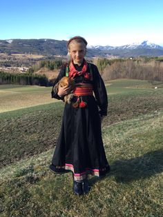 Anne in her Beltestakk from Heddal, Telemark, Norway.
