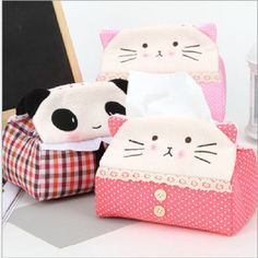 Free Shipping Kawaii Plush Fortune Cat with Bell Novelty Tissue Holder / Tissue Box / Tissue Extraction / Table Decoration US $22.00