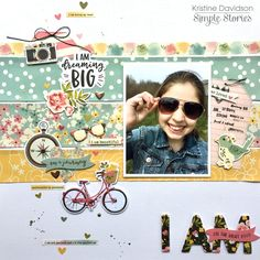 Layout from creative team member Kristine Davidson using the I AM... collection
