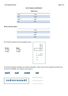 This 7 page handout and worksheet introduces and provides multiple practice exercises with the Italian vocabulary involved in asking for and giving...