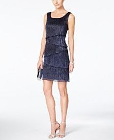 Connected Sleeveless Tiered Sheath Dress
