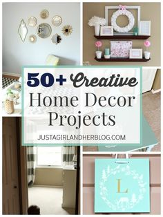 50 Creative Home Decor Projects | JustAGirlAndHerBlog.com