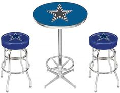 18 x 24 poster of hand painted image of the iconic pubs and dallas cowboys pub table set watchthetrailerfo