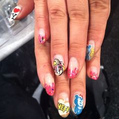 INSANE #nailart spotted on a @SallyHansen nail tech #NYFW
