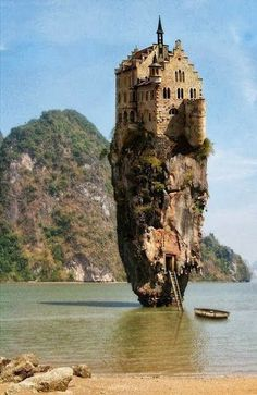 Cliff House, Dublin, Ireland- I wonder who decided, when, and why that this would be a good idea! And how was it built????