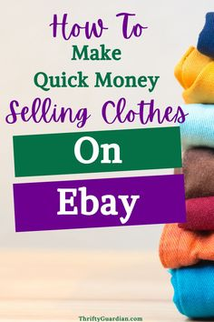 Learn the basics behind how to sell clothes on Ebay and how to make money doing so!