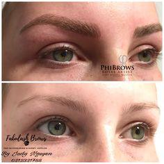 Beautiful color, fuller look eyebrows #microblading eyebrows