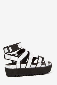 Intentionally Blank React Perforated Leather Sandal - Shoes | Platforms