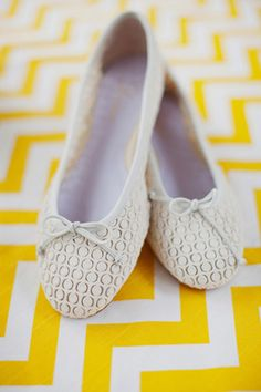 Colorful Virginia Wedding by Jodi Miller and Merriment Events - Southern Weddings Magazine || definitely flats for my wedding!