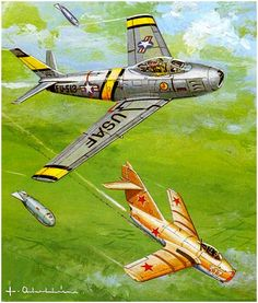 Sabre Jet, Korean Air, Top Gun, Aviation Art, Model Airplanes, Illustrations And Posters, Cold War, Military Aircraft, Wwii