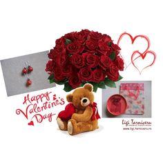 """Happy Valentine's Day jewelry"" by ligi-tarniceru on Polyvore"