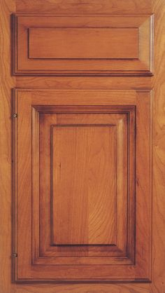 KraftMaid Cabinets -Square Raised Panel - Solid (GRC) Cherry in Natural from waybuild Custom Cabinet Doors, Cabinet Door Styles, Custom Cabinets, Kraftmaid Cabinets, Raised Panel, Custom Wood, Tall Cabinet Storage, Cherry, Natural