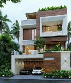 3 Storey House Design, Bungalow House Design, House Front Design, Modern Bungalow, Modern Exterior House Designs, Modern Architecture House, Modern House Design, Architecture Design, Architecture Interiors