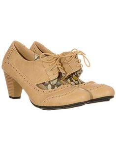 Gin Mill Lace-Up Wingtip Maryjanes at PLASTICLAND