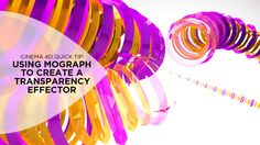 Cinema 4D Tip: Using MoGraph to Create a Transparency Effector