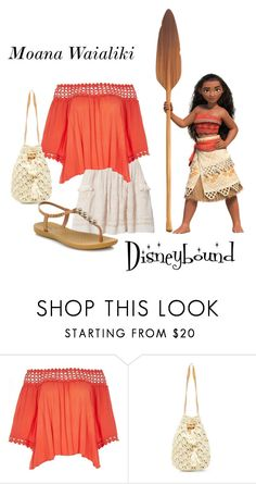 """Moana Waialiki Disneybound"" by miss-disney101 ❤ liked on Polyvore featuring Ulla Johnson, River Island and IPANEMA"