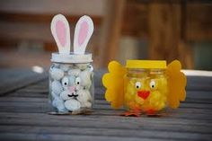 Cute Chick Craft - use baby jars and fill with yellow candy for party favor
