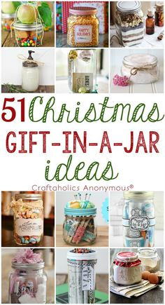 Check out this ultimate list of Christmas Gift in a Jar ideas! Find ideas for everyone on your list from crafter to golfer to kids. Handmade Christmas gifts