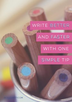 One little writing tip can change how fast you write, but it might take some getting used to Writing Process, Writing Help, Writing A Book, Writing Tips, Writing Quotes, Creative Writing Ideas, Twitter Tips, Writing Styles, Make Money Blogging