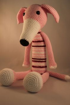 Relaxing greyhound Crochet toys/amigurumi Pinterest ...