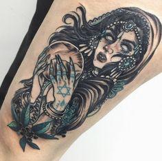 Gypsy fortune teller tattoo