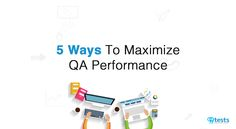 Are you looking for ways to improve the efficiency of your software testing team? Here is a quick read on 5 Ways To Maximize QA Performance Quick Reads, Software Testing, 5 Ways, Reading, Tips, Reading Books, Counseling