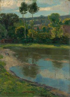 Martin Benka - Krajina s rybníkom I., 1910