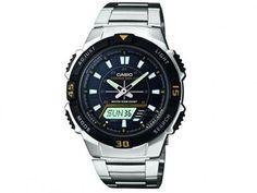 Relógio Masculino Casio AQ-S800WD-1EVDF - Anadigi com Cronômetro e Calendário com as melhores condições você encontra no Magazine Ohsblu. Confira!