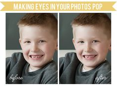 Tutorial | Making the Eyes in Your Photos POP