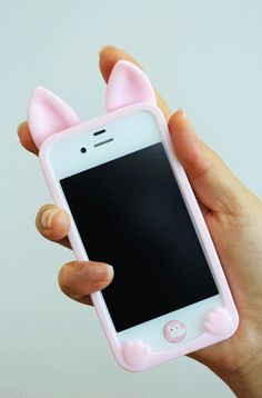 Silicone cat ear case for iphone 4/4S and 5. This case features cute little bendable cat ears that can be bent in order to turn your phone on or off as well as to put it to sleep or wake it. Please allow 20-25 days for delivery