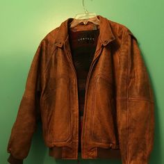 efa2ccf0695 Leather jacket insulated with some fabric on the inside Can fit a  small medium