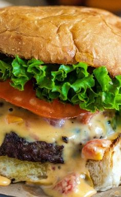 Queso Burgers Recipe ~ Tastes just like a fiesta in your mouth!