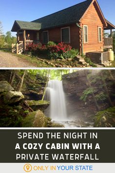 Looking for the perfect getaway in nature? Escape to this charming cabin with a private waterfall in Tennessee. The gushing cascades are just steps from your porch and this Airbnb is also surrounded by beautiful hiking trails. Tennessee Waterfalls, Best Bucket List, The Perfect Getaway, Tennessee Vacation, Weekends Away, Travel And Tourism, Travel List, Summer Travel, Natural Wonders